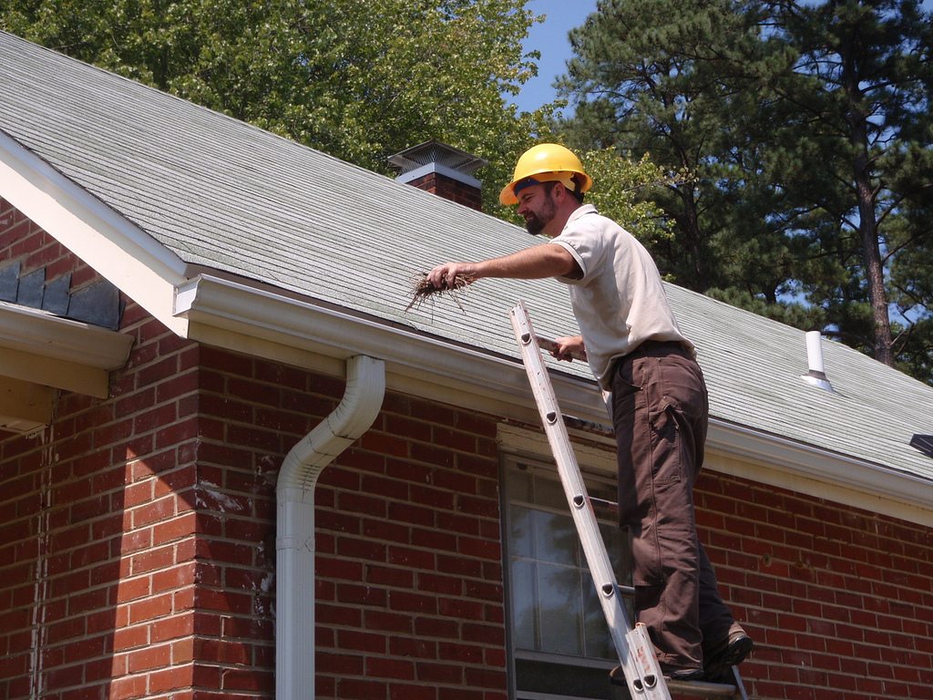cleaning spouting and gutters